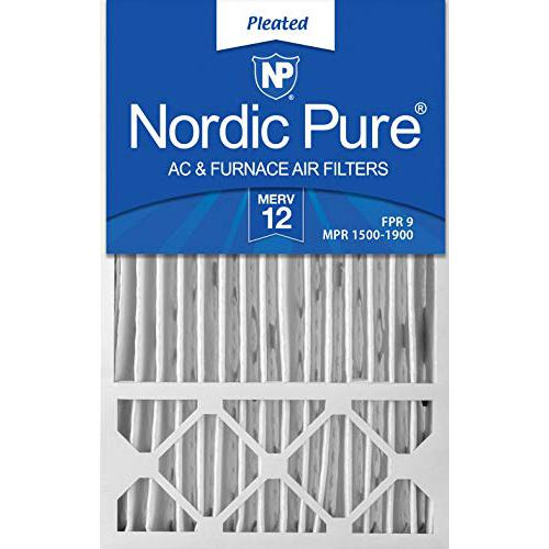 Nordic Pure 16x25x5 MERV 12 Honeywell/Lennox AC Furnace Air Filters 2 Pack