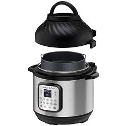 Instant Pot Duo Crisp Pressure Cooker 11 in 1, 8 Qt with Air Fryer, Roast, Bake, Dehydrate and more