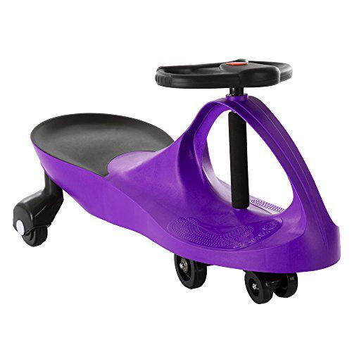 Ride On Car, No Batteries, Gears or Pedals, Uses Twist, Turn, Wiggle Movement to Steer Zigzag Car-Purple, for Toddlers, Kids, 2 Years Old and Up