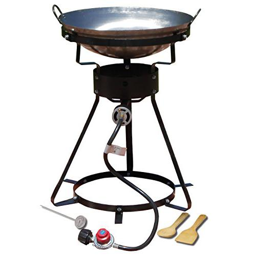 King Kooker 24WC 12 Portable Propane Outdoor Cooker with Wok, 18.5 L x 8 H x 18.5 W, Black