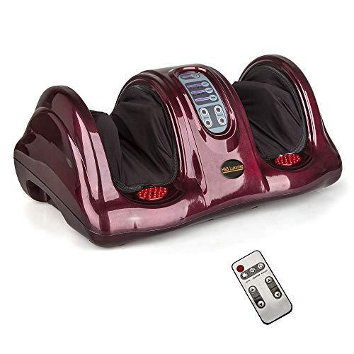 H&B Luxuries Shiatsu Kneading Rolling Foot Massager Personal Health Studio ZH-9902-red