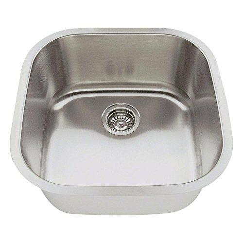 MR Direct 2020 16-Gauge Undermount Single Bowl Stainless Steel Bar Sink