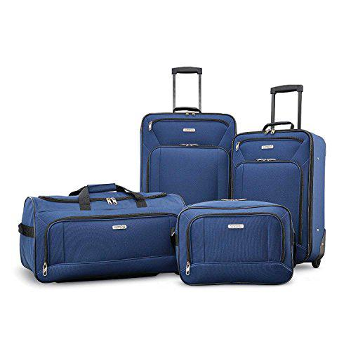 American Tourister Fieldbrook XLT Softside Upright Luggage, Navy, 3-Piece Set (BB/DF/21/25)