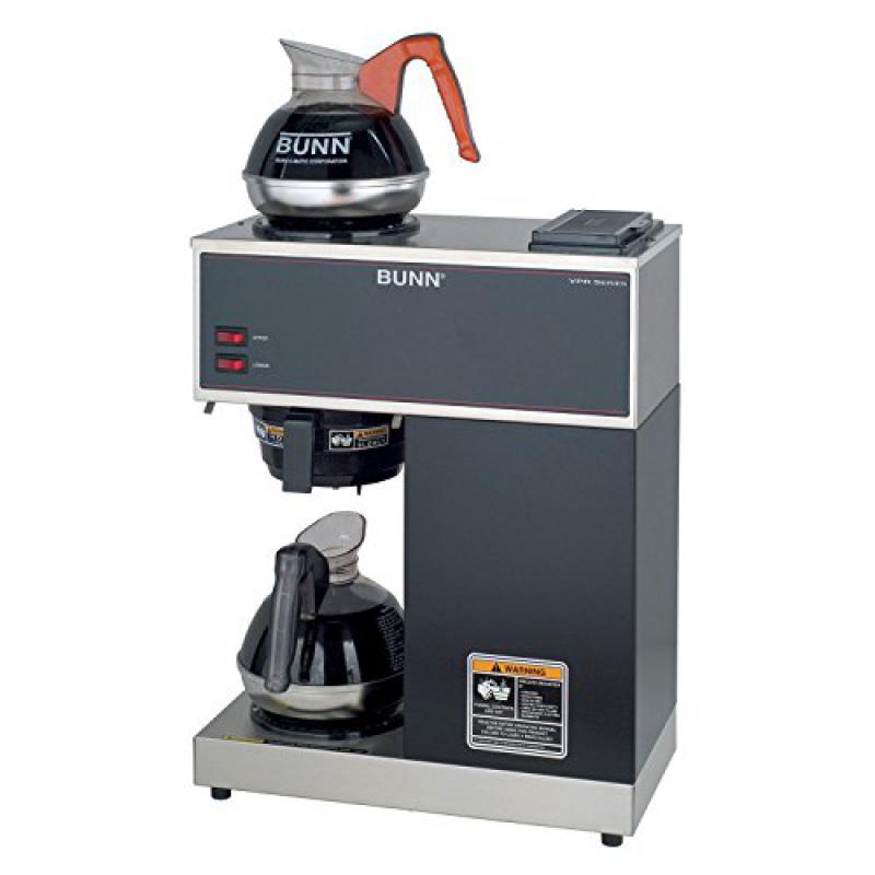 BUNN - 33200.0002 VPR-2EP 12-Cup Pourover Commercial Coffee Brewer Plus 2 Easy Pour Commercial Decanters