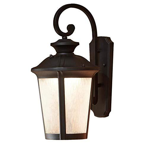 allen + roth Dashwood 18.5-in H Black LED Outdoor Wall Light