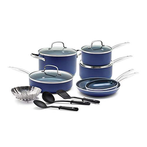 Blue Diamond Cookware 14 Piece Cookware Pots and Pans Set