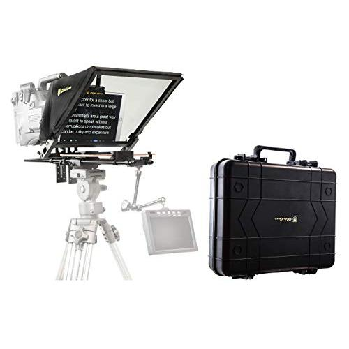 Glide Gear TMP 750 16.5 Professional Video Camera Tablet Teleprompter 70/30 Beam Splitting Glass with Hard Protective Carry Case