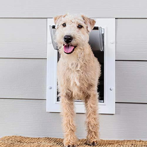 PetSafe Wall Entry Pet Door with Telescoping Tunnel, Medium, for Pets Up to 40 Lb., White, Made in the USA