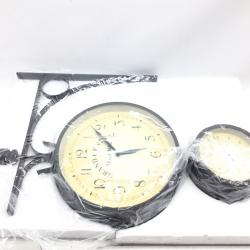 Ashton Sutton H1138-25 Double Sided Bracket Clock and Thermometer