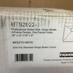 Franke HTS2022-1 Sink, 19.5, Stainless Steel