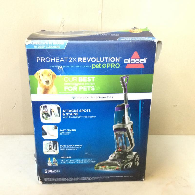 Bissell ProHeat 2X Revolution Max Clean Pet Pro Full-Size Carpet Cleaner, 1986, with Antibacterial Formula and Bonus 3 Tough Stain Tool
