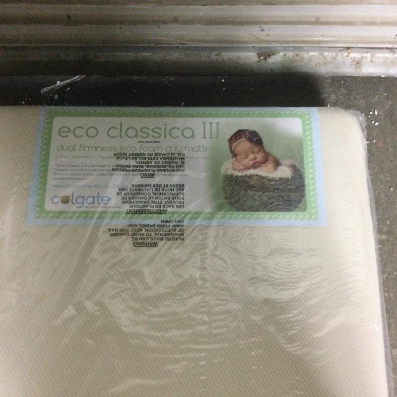 Eco Classica III 2-Stage Baby & Toddler Mattress by Colgate Mattress | Organic Waterproof Cotton Cover | Hypoallergenic | Eco-Friendly Foam | GREENGUARD Gold Certified