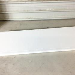 AHDECOR White Deep Floating Shelves Display Ledge Shelf with Invisible Blanket 24