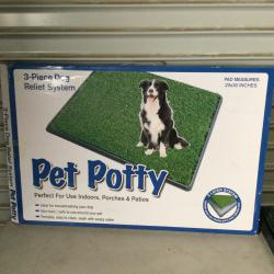 Dog Grass Large Pet Loo Indoor/Outdoor Portable Potty, Artificial Grass Patch Bathroom Mat for Puppy Training, Full System with Trays, Easy to Clean (3-Layered System Tray, 20x30)