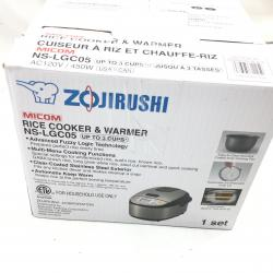 Zojirushi NS-LGC05XB Micom Rice Cooker & Warmer, 3-Cups (uncooked), Stainless Black