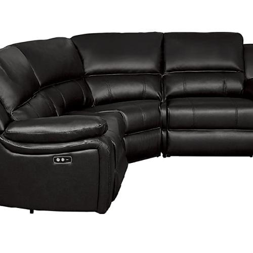 Homelegance Power Reclining Sectional Sofa Brown Faux Leather, 3 PC (L & R Recliner & Corner)
