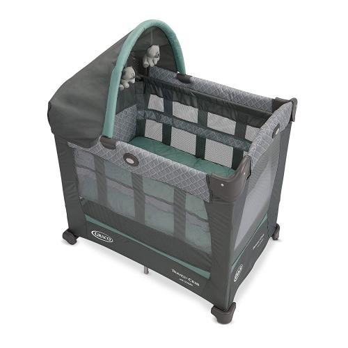 Graco Travel Lite Crib  Travel Crib Converts from Bassinet to Playard, Manor
