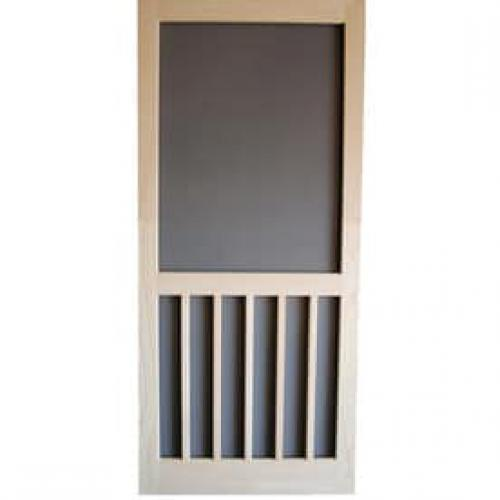Screen Tight 5 Bar Finger Joint Wood Hinged Screen Door (Common: 32-in x 80-in; Actual: 32-in x 80-in)