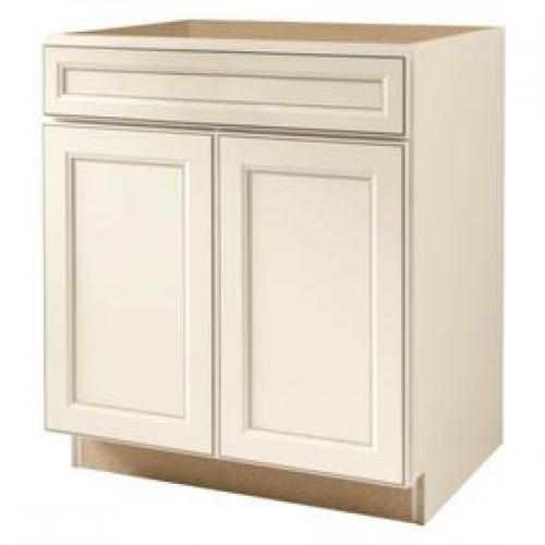 Kitchen Classics Caspian 30-in W x 35-in H x 23.75-in D Finished Toasted Antique Door and Drawer Base Cabinet