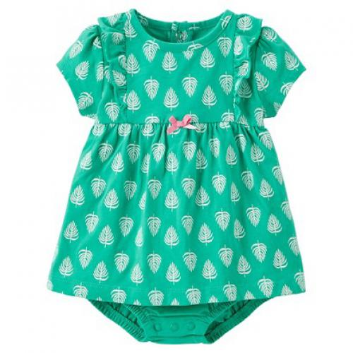 Just One YouMade by Carter's Newborn Girls' Leaves Bodysuit Dress 3 M