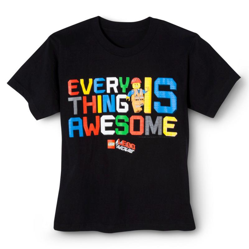 Lego Everything Awesome Boys' Graphic Tee - Black XS